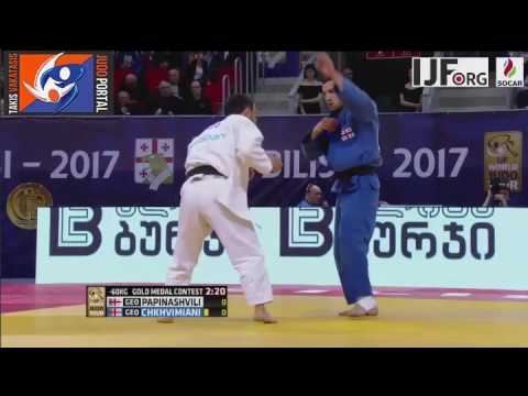 Judo Grand Prix Tbilisi 2017 Final -60kg PAPINASHVILI Amiran (GEO) vs. CHKHVIMIANI Lukhumi (GEO)