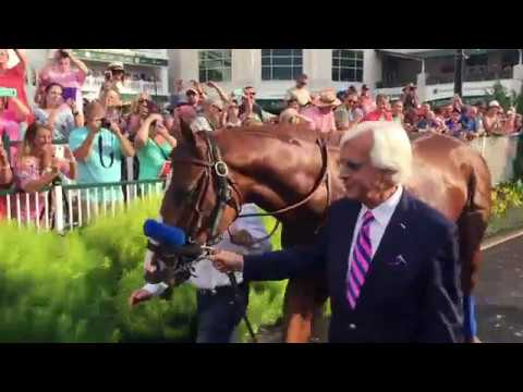 Triple Crown winner Justify's victory parade at Churchill Downs