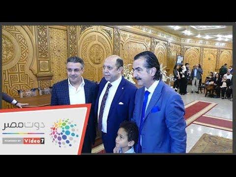 شاهد.. نجوم الرياضة في عقد قران ابنة أحمد سليمان  - 21:55-2019 / 3 / 22