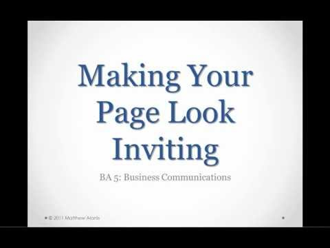 Making Your Page Look Inviting | Episode 10