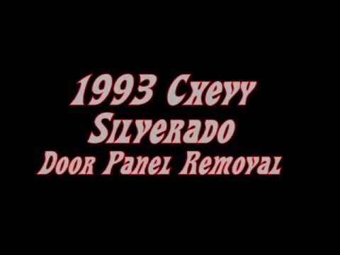 1993 Chevy/GMC Truck Door Panel Removal & Installation