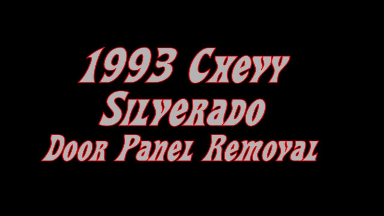 1993 Chevy Gmc Truck Door Panel Removal Installation Youtube Wiring Diagram Typhoon