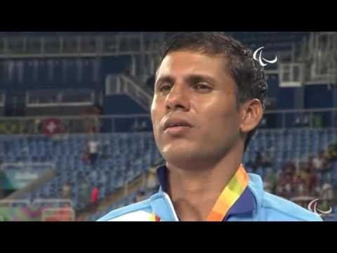 Devendra Gold 2 times Gold Medal Winner - Rio 2016 - Indian Flag Hoisted