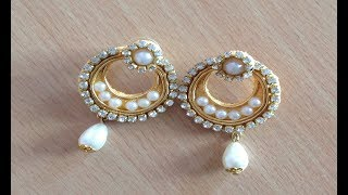 Handmade party wear silk thread Chandbali Earrings