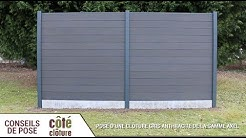 Côté Clôture - Poser une clôture composite Axel