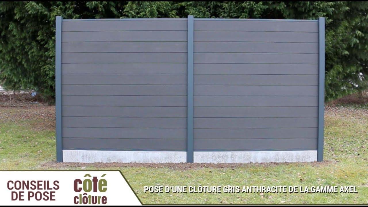 Côté Clôture Poser Une Clôture Composite Axel