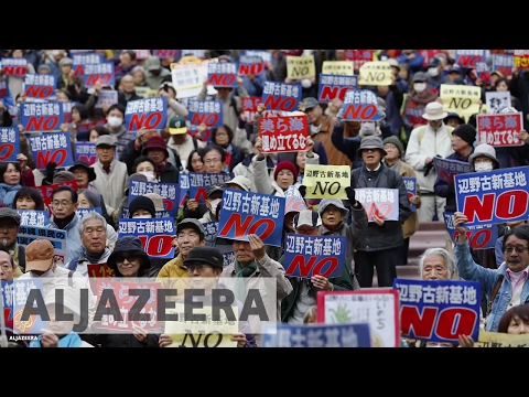 Okinawa Locals Protest US Military Bases