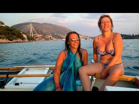Catamaran Ariki Sailing Acros Adriatic Sea: Slovenia - Croat