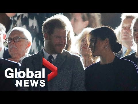 Prince Harry and Meghan Markle attend Invictus Games reception at Sydney Opera House