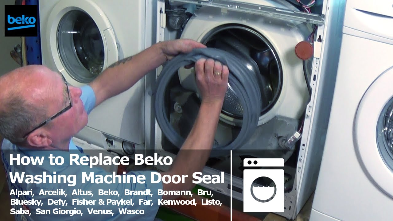 How To Replace Beko Washing Machine Door Seal Youtube