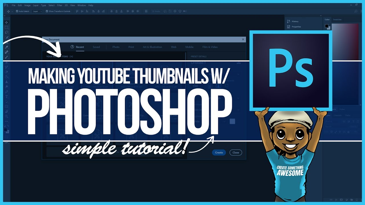 0e9e8333f How to Make a Custom YouTube Thumbnail (Photoshop Tutorial Step by Step)