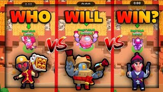 LION DANCE BROCK vs DUMPLING DARRYL vs ROYAL AGENT COLT IN BIG GAME! ~ Brawl Stars