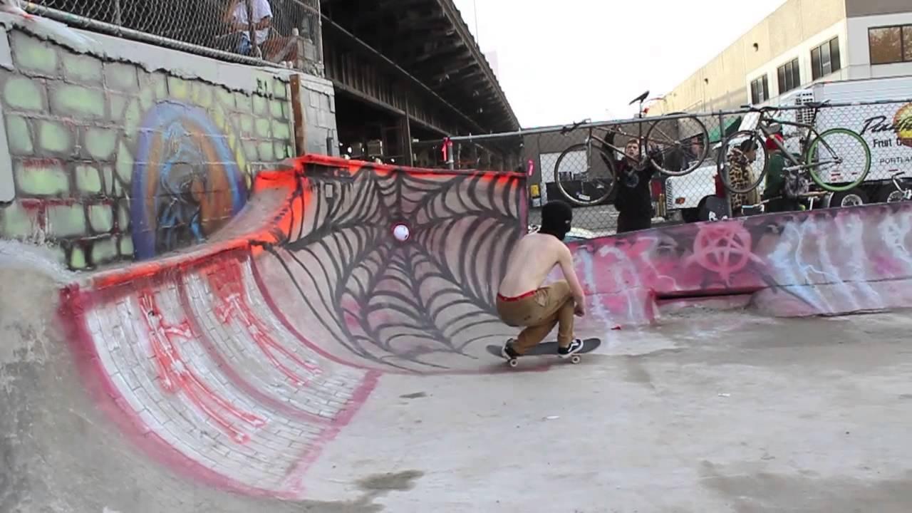 burnside skatepark 23rd birthday/halloween 2013 - youtube