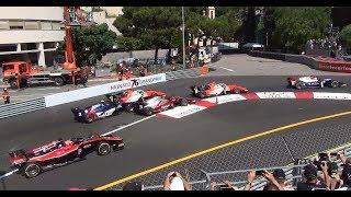 F2 race grand prix Monaco 2018 HD Pure sound
