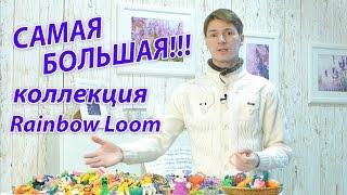 САМАЯ БОЛЬШАЯ коллекция Rainbow Loom в России!!! Урок №100