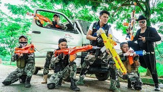LTT Nerf War : Captain SEAL X Warriors Nerf Guns Fight Dr Lee Group Car Transporter Bandits