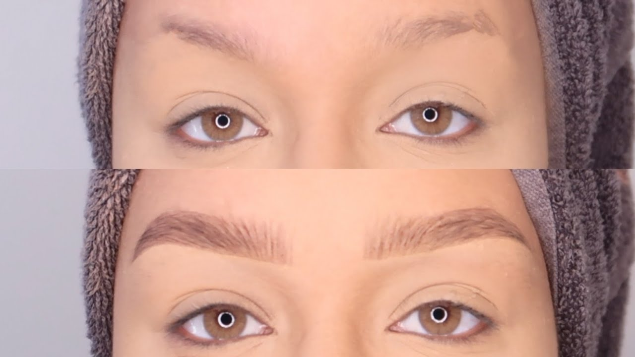 BEST EYEBROW TUTORIAL/HACK FOR SPARSE BROWS 2019 - YouTube