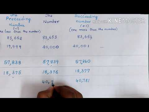 #Mathematics#Class 5#The preceding and the succeeding numbers#with the exercise