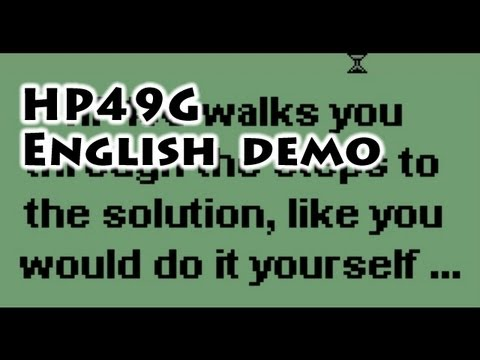 HP calculators: HP49G English Demo - Gaak