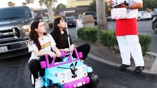 One of Amy Ordman's most viewed videos: DRIVING THRU IN-N-OUT IN A TOY CAR w MEGHAN CURRIE! ~episode 1~