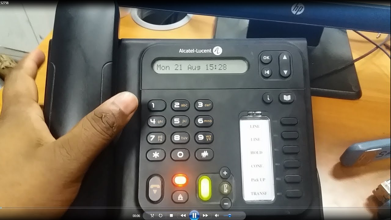 How to Reset Password Alcatel Lucent IP Touch 4018 40 08 & 4019 Digital  Phone