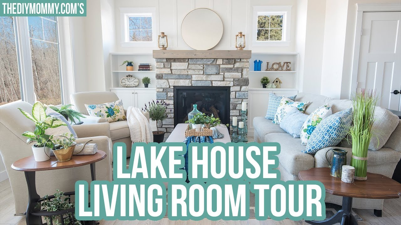 Lake House Living Room Photos Decorating Ideas For With Grey Couch Gorgeous Tour Youtube