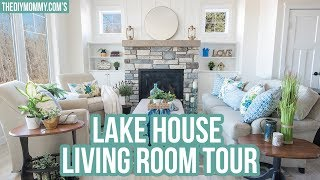 GORGEOUS Lake House Living Room Tour! 😍