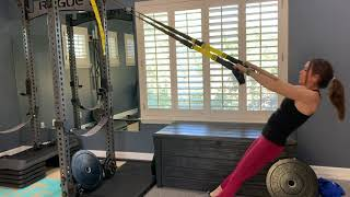Wide grip TRX inverted row