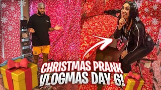 I COVERED MY BOYFRIENDS ENTIRE GAME ROOM IN GIFT WRAP!! (Vlogmas Day 6)