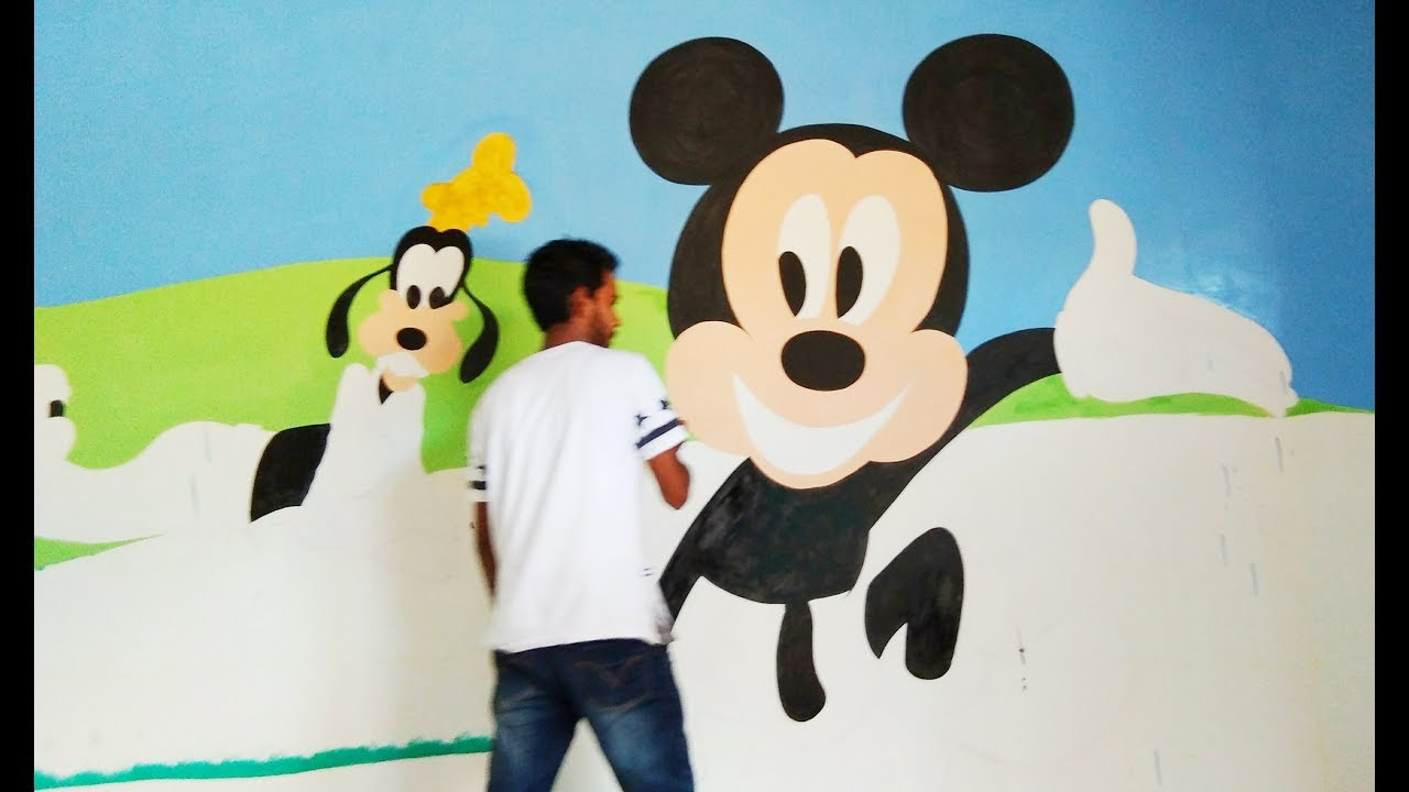 Mickey Mouse Wall Painting A Slideshow Of Some Paintings
