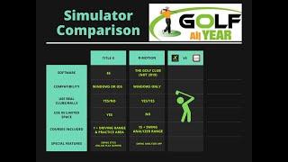 Tittle X Golf Simulator Review & Comparison - Vs R-Motion