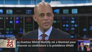 Michel Martelly on RDI 24/60 in Montreal