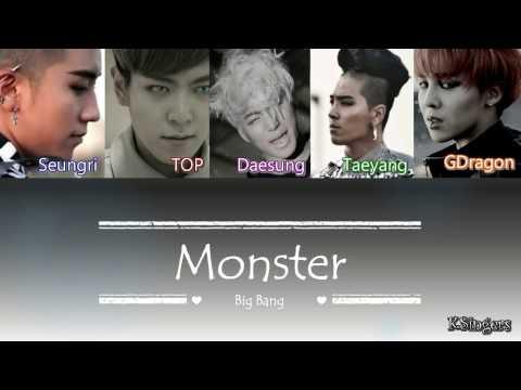 Big Bang - Monster | Sub (Han - Rom - English) Color Coded Lyrics
