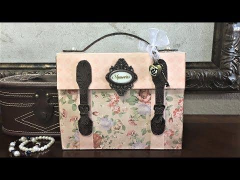 Suitcase Mini Album made with 8 file folders!