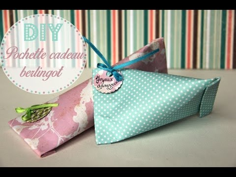 diy une pochette cadeau berlingot youtube. Black Bedroom Furniture Sets. Home Design Ideas