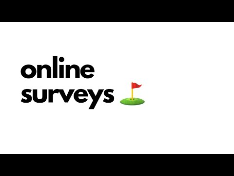 Online surveys ⛳️