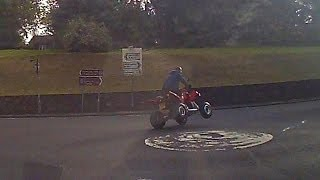 How not to ride a Quad Bike on a Public Road!!!!!!!!!   Uddingston
