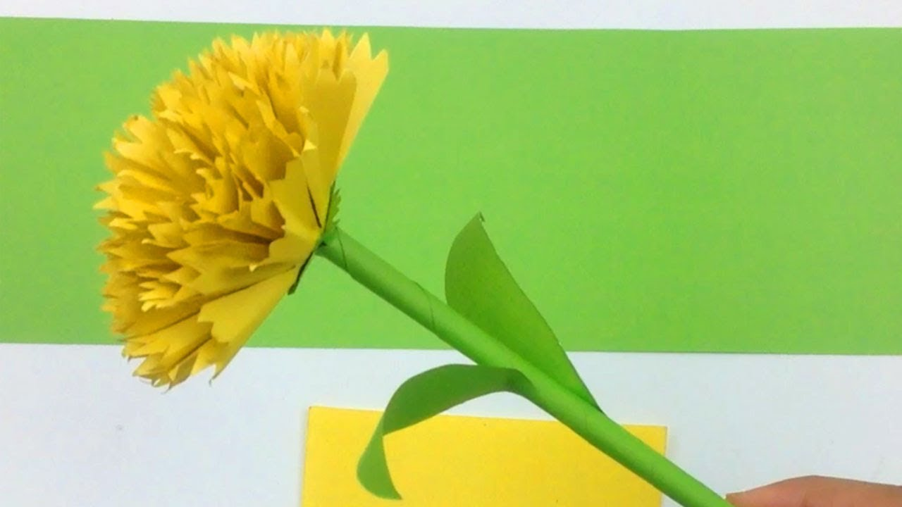 How to make carnation flower from colour paper craft tutorial how to make carnation flower from colour paper craft tutorial handmade easy carnation flower diy jeuxipadfo Choice Image