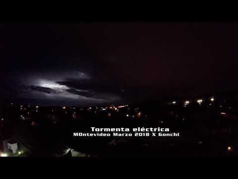 Tormenta eléctrica Montevideo Marzo 2018 X Gonchi