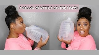 I Drank A Gallon of Water A Day for 5 DAYS   Journey To Snatched Waist