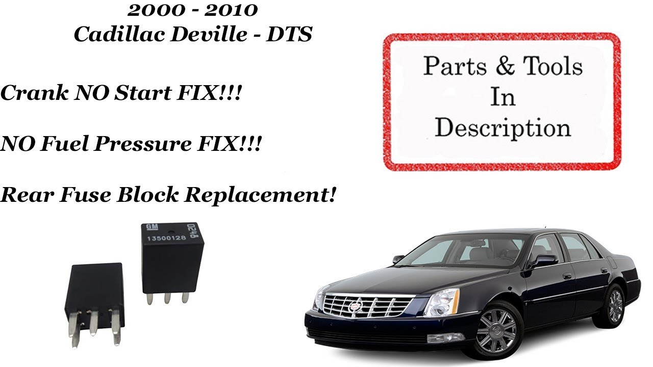 [SCHEMATICS_4PO]  Cadillac Crank NO Start FIX!!! Rear Fuse Block Replacement! - YouTube | Cadillac Sts 2000 Fuse Box For Sale |  | YouTube