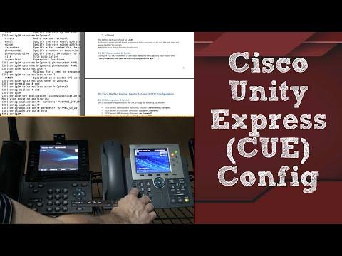 CCIE Collaboration - Configuring Cisco Unity Express (CUE)