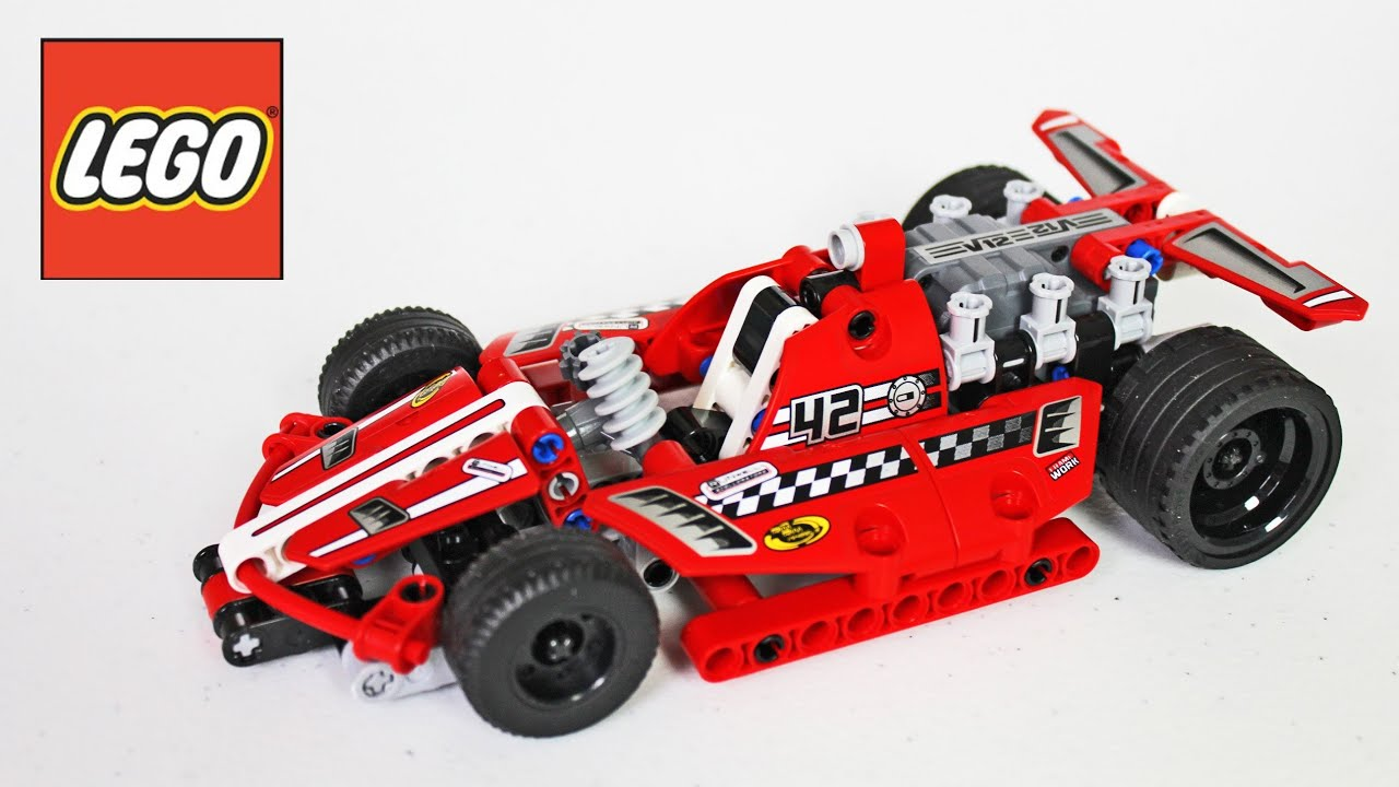 Lego Race Car Review Unboxing Time Lapse Build Technic