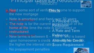 Principal Balance Reduction Program To Fix Mortgages 800 826-1929.mp4
