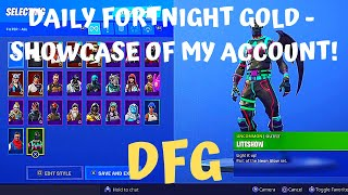 DFG My Fortnite account and a quick overview! (17th February 2019) (Battle Royale)