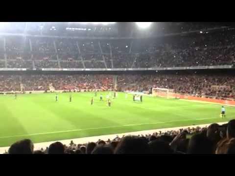 Gol de Messi de falta. F.C.Barcelona - Betis. Jornada 34. Temp. 12/13