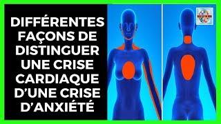 Découvre différentes façons de distinguer une crise cardiaque d'une crise d'anxiété