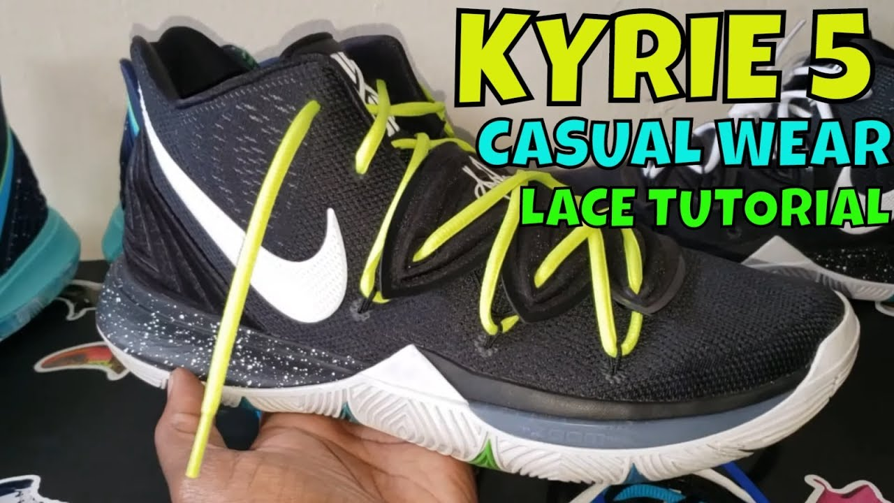 960ed50b299 NIKE KYRIE 5 LACE TUTORIAL FOR CASUAL WEAR + LACE SWAP - YouTube