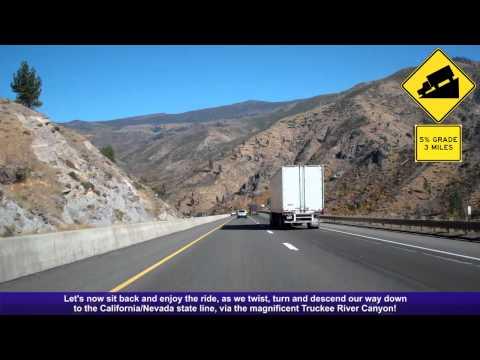 I-80 East (CA), Decending Down The Sierra Nevada Mountains, Mile 190-207
