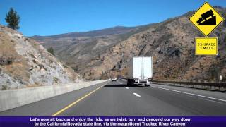 I-80 East (CA), Decending Down The Sierra Nevada Mountains, Mile 190-207